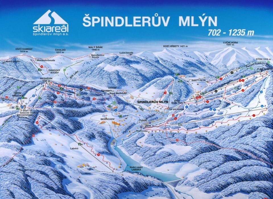 Špindlerův Mlýn - lyžařské středisko